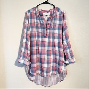 Holding Horses | Anthropologie Plaid Hi-Lo Tunic